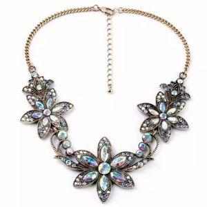 Jewelry - Crystal/rhinestone drop bib necklace NWT